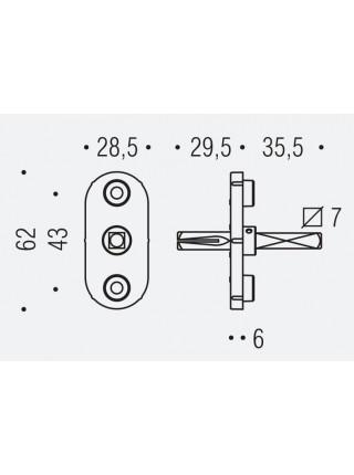Colombo механизм для оконной ручки тонкий  DK 40DF