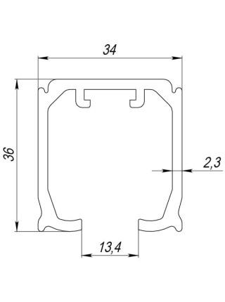 Верхняя направляющая Armadillo (Армадилло) Comfort-PRO 80/2