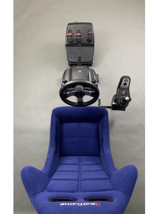 Кокпит для симрейсинга / автосимулятор RealGame Perfomance (Синий)